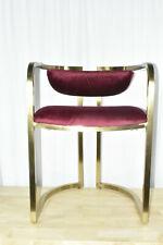 MoDRN Glam Marni Metal Base Dining Chair Gold & Red Velvet