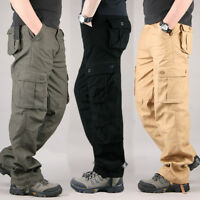 Mens Casual Multi-Pocket Military Army Cargo Pants Camouflage Combat Trousers CA