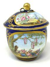 Sucrier Bouillard Sèvres & XVIII ème Siècle &Porcelaine & Peinture & Dorure