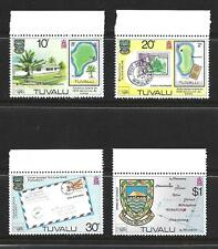 TUVALU COMPLETE SIDE STAMP SET W MARGINS SCOTT #133 - 136 MNH FRESH 1980
