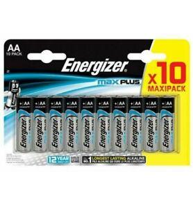 Energiser Max Plus AA Batteries 10 Pack Long Lasting Long Shelf Life Exp 2031