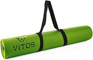 """Yoga Mat Fitness   1/4"""" Thick High Density Deluxe Non Slip Exercise for All Ages"""