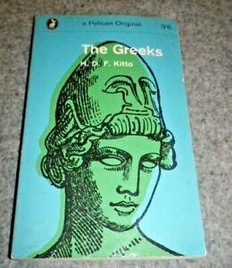 Vintage Penguin Pelican Original Paperback Book The Greeks H.D.F Kitto1963