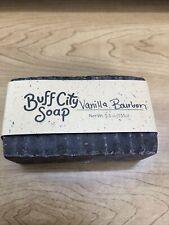Buff City Bar Soap Vanilla & Bourbon Scent 5.5 Oz (155g)