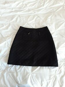 Hobbs Woman Black Quilted Aline Skirt Size 10 Uk