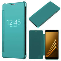 "Housse Etui Clear View Smart Cover BLEU pour Samsung Galaxy A8 (2018) A530F 5.6"""