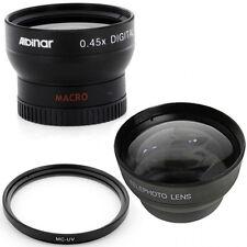 37mm Wide Angle and Tele Lens Kit, MCUV for Sony DCR-TRV350 TRV37 SR5 SR7 SR8,US