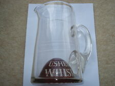 C1900 VINTAGE USHER'S WHISKY CRANBERRY&CLEAR GLASS ADVERTISING GLASS WATER JUG