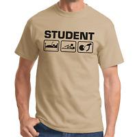 STUDENT Uni Feier Party Sprüche Geschenk Lustig Spaß Comedy Fun Spruch T-Shirt