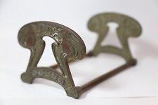 Cjo Judd Art Nouveau Cast Iron and Brass Goddess Lady Expandable Book Rack #9759