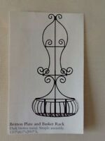 Home Interiors & Gifts Wire plate rack planter vintage