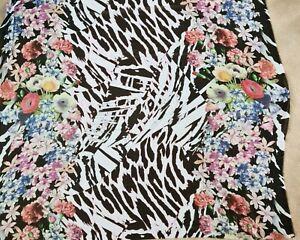 Lightweight digitally printed chiffon dress fabric 5 mtrs