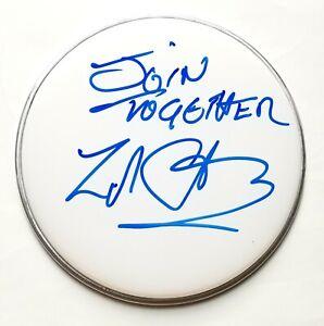 """Zak Starkey of The Who REAL SIGNED 10"""" Drumhead #1 w/ Insc. COA Ringo Beatles"""