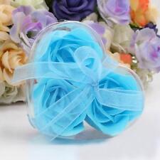 3Pcs Colorful Scented Petal Bath Body Paper Soap Rose Flower Wedding Decor