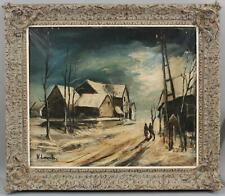 Antique French Impressionist Winter Oil Painting, School of Maurice de Vlaminck