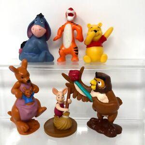 Disney Winnie The Pooh Tigger Kanga Piglet Owl Eeyore Figures Cake Toppers