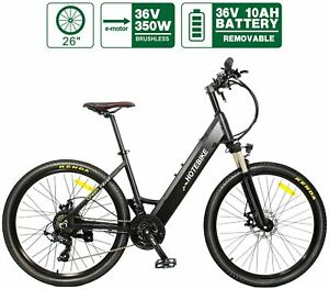Electric Bike HOTEBIKE City Bicycle 36V 350W 21 Speed 26 inch for Woman Man