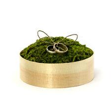 Ringbox aus Holz für die Hochzeit natur mit Kunstmoos Alternative für Ringkissen