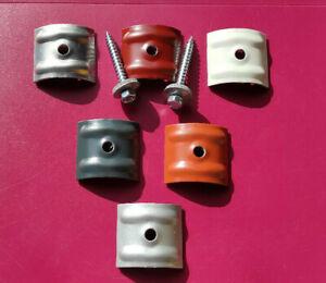 Kalotten 24° für Sinus Profil 76/18+Schrauben 6,5x50 V2A Schr.vers.RAL Farben