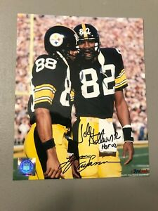 Lynn Swann, John Stallworth HOF 02 Autographed Pittsburgh Steelers 8x10 Photo