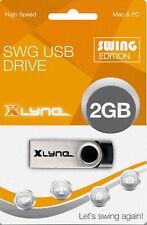 Xlyne USB Stick 2GB Speicherstick SWG schwarz mit Kappe