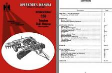 International 350 Tandem Disk Harrow (Wheel Controlled) Operators Manual Setting