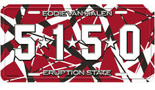 5150 License Plate - Eddie Van Halen  - New Official EVH Striped EVH auto home