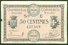 NECESSITE 50 CENTIMES CHAMBRE de COMMERCE DE MACON BOURG ETAT : TTB  Lot 382