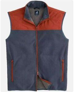 Johnnie-O Men's sz XL Wake Morrison Golf Fleece Full Zip Vest $135