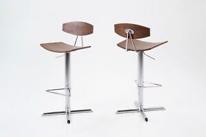 Blaise Barstool Single Quality Bonded Leather Bar stool With Chrome Base