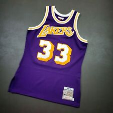 100% Authentic Kareem Abdul Jabbar Mitchell & Ness 83 84 Lakers Jersey Size M 40