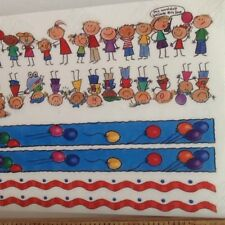 """12"""" Borders MULTICULTURAL KIDS BALLOONS SCRAPBOOKING Stickers Me & My Big Ideas"""