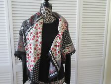 Izaro Patchwork Shawl, Scarf Women NWT,Multi-color square Patchwork look.fringe,