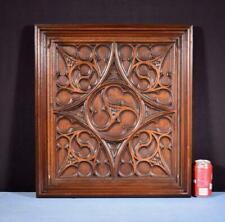*French Antique Gothic Deep Carved Architectural Panel/Door Walnut Salvage