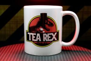 Tea Rex Jurassic Park T-rex Parody Funny Coffee Mug Tea Cup Double Sided by Mug