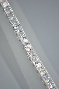 9ct White Gold CZ Bracelet
