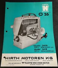 HIRTH O 26 SNOWMOBILE ENGINES SPECIFICATION BROCHURE 292 & 338 MODEL 280 R (613)