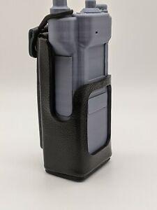 Motorola APX6000 3.5 Hard Leather Two Way Radio Case Holder Holster USA Made