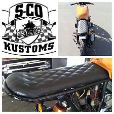 Motorcycle Banana Seat, Brat, Cafe Racer, Bobber, Tracker, Vintage Style, AHRMA