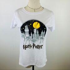 New Harry Potter White Short Sleeve Juniors Graphic T-Shirt MULTIPLE SIZES