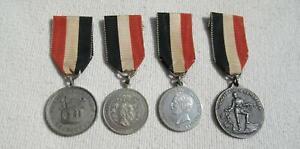 DEUTSCHES REICH KRIEGERVEREIN, Patriotische Medaillen, insg. 4 versch. am Band !