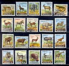 ANGOLA 20 Stamps # 362 - 381 Set 1953 Used