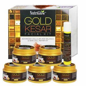 Nutriglow Gold Kesar Facial Kit Instant Radiance Shine & Youthful Glow 250 Gm