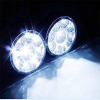 LED  FRONT FOG Spot Lamps Light Bar Daytime Running Driving Lights DRL 4X4 Truck