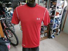 Under Armour HeatGear red short sleeve shirt size M polyester #34159