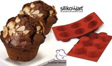 Stampo Silicone nr. 6 Muffin Cupcake ø69 MM H 35 MM Silikomart Antiaderente