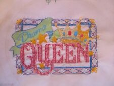 Drama Queen Cross Stitch Handcrafted