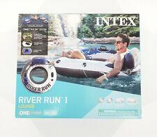 INTEX River Run 1 Person Inflatable Floating Water Tube Raft for Lake Pool Ocean