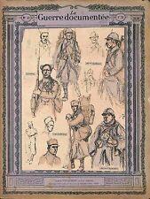 Uniforme Uniform Zouaves Tirailleurs Algériens & Légion Etrangère 1916 WWI