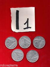 lotto 10 lire repubblica italiana italy 5 monete coins 1955 1979 80 1981 1982